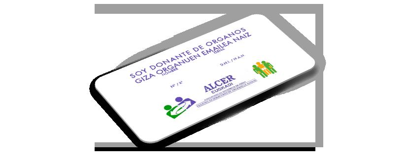 tarjeta donante